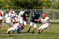 Hillsdale JV Football Scrimmage Aug 23 2013