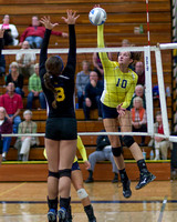 Columbia Central vs Ida Volleyball League Championship Oct 28 2104