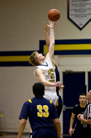 Hillsdale Varsity Boys Basketball at Columbia Central Jan 28 2014