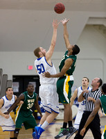 Wayne State at Hillsdale College Mens Basketball Jan 9 2014
