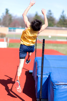 Davis Middle School TRack Air Jumpers April 23 2014
